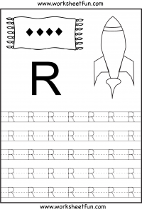 Full Page Of Uppercase Letter Tracing For Each Letter Of The