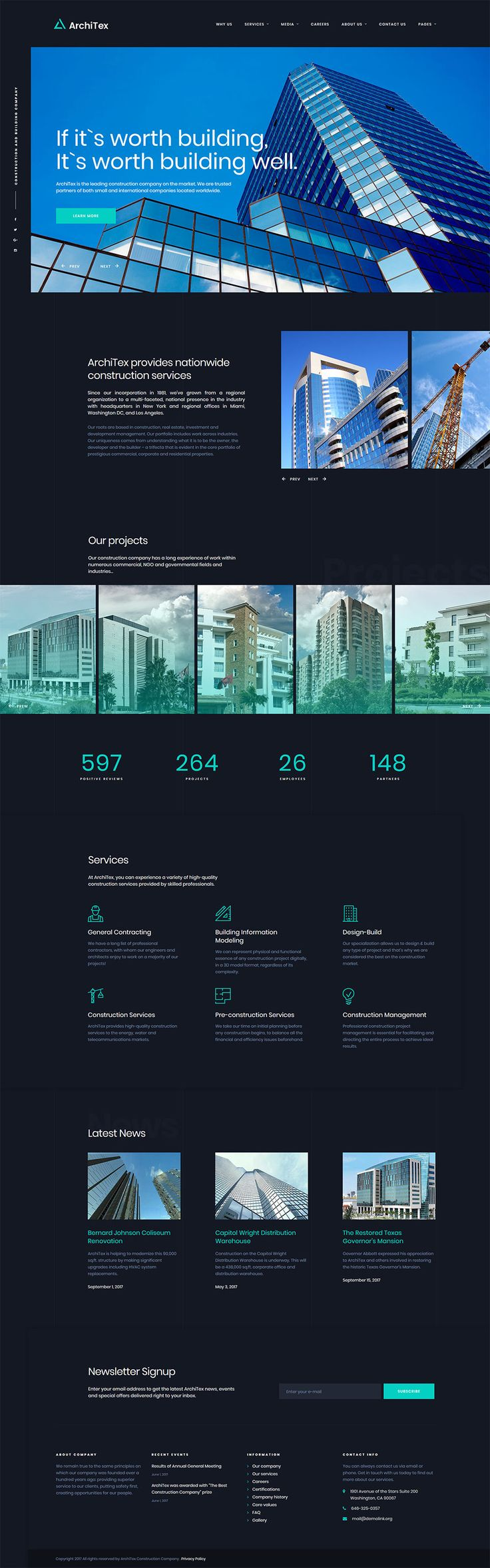 Architex Architecture Building Construction Responsive - Podcast website template