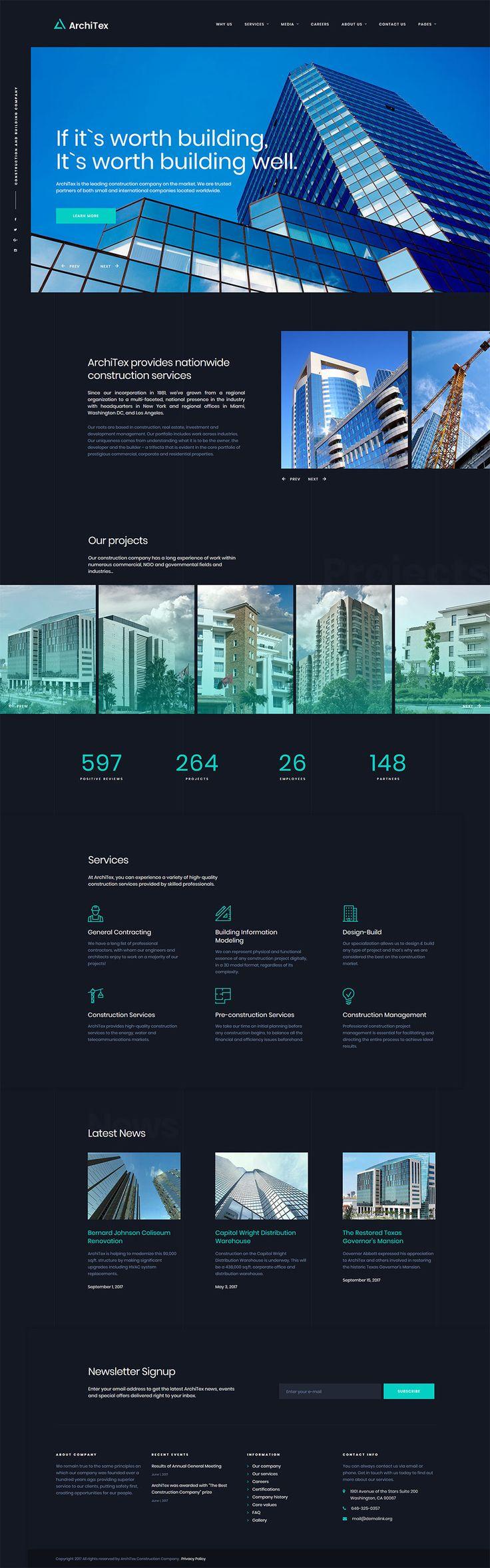 Architex Architecture Building Construction Responsive - Podcast website template