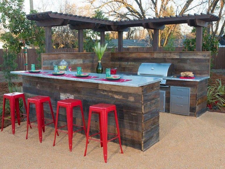 25 Amazing Modern Outdoor Kitchen And Grill Station In The Backyard Garden Outdoor Kitchen Design Outdoor Kitchen Modern Outdoor Kitchen