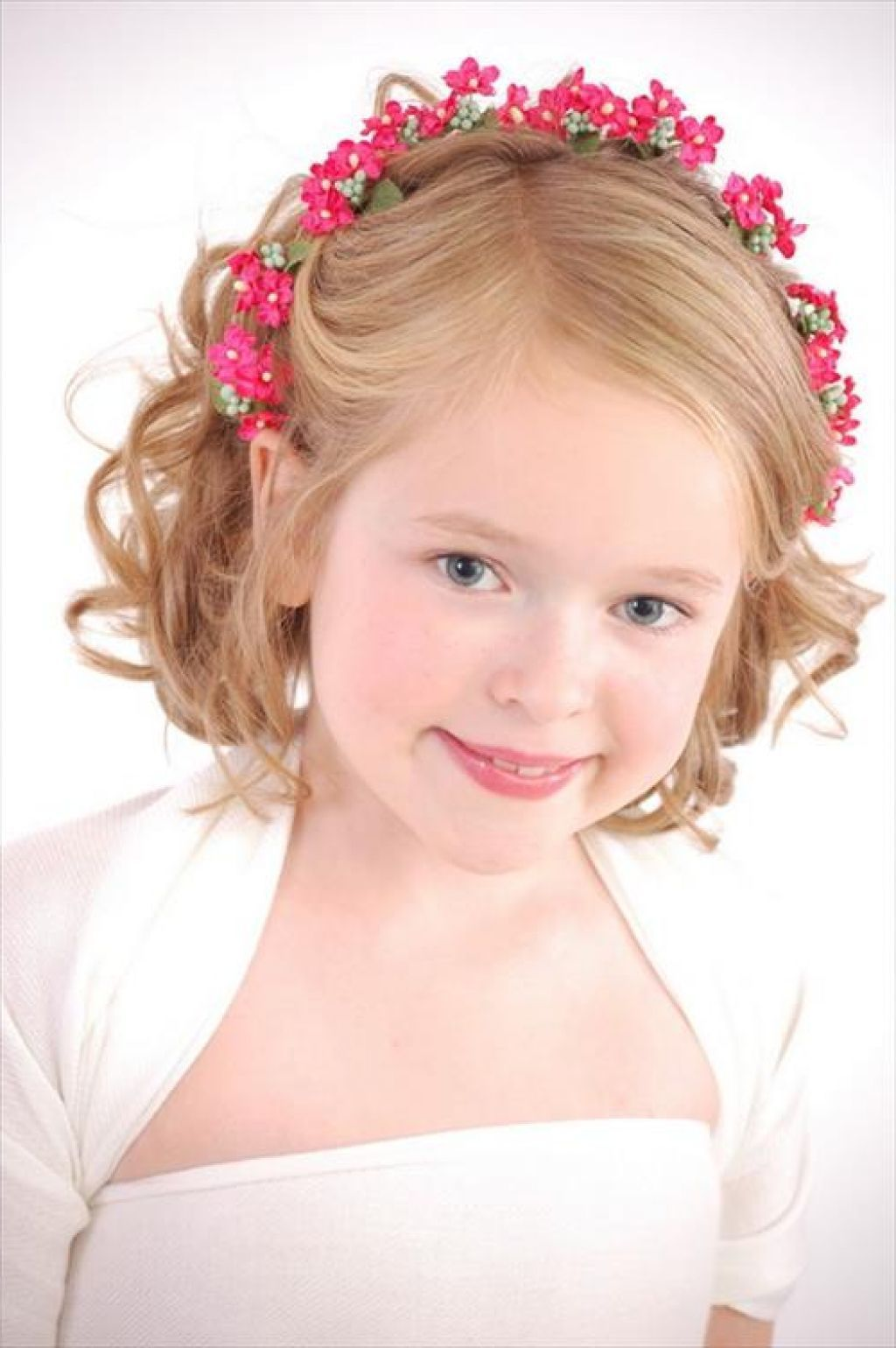 Picture Of Wedding Hairstyles For Kids With Headbands | Kids Hair ...
