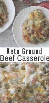This Keto Ground Beef Casserole is the perfect comfort dish for these long cold   food recipes healthy