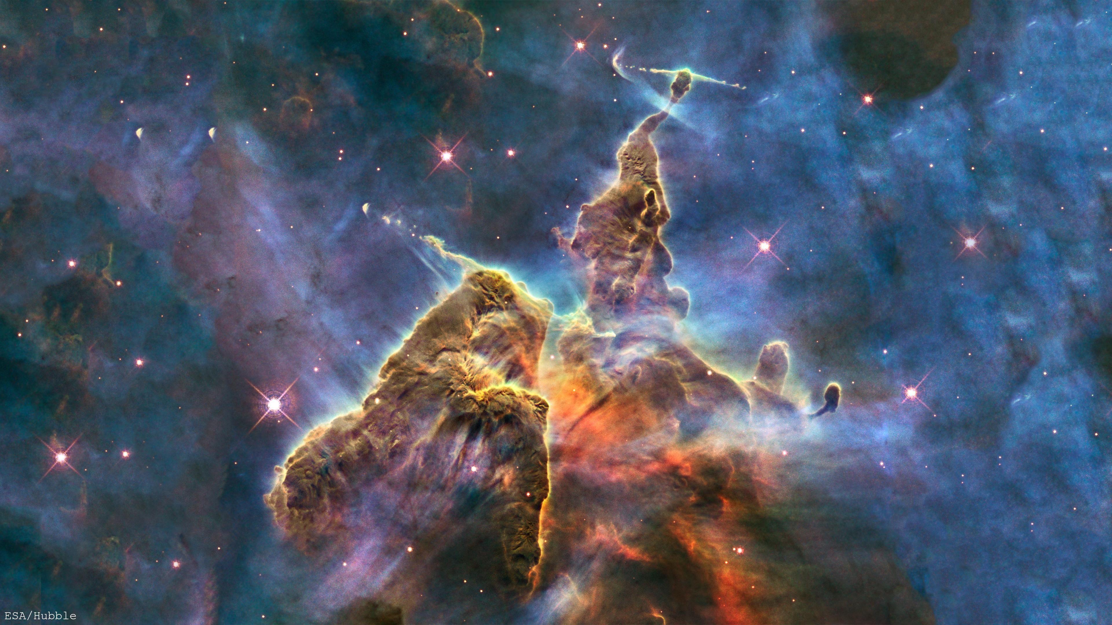 4k Carina Nebula Hubble Telescope