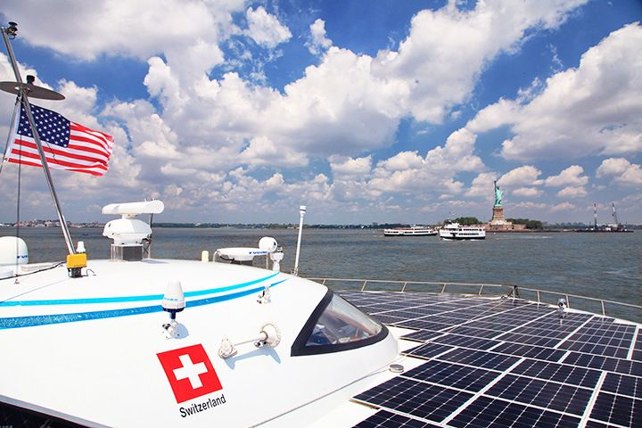 World's largest solar boat arrives in New York