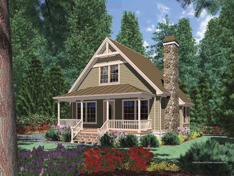 Log Style House Plan 1 Beds 1 Baths 950 Sq Ft Plan 48 303 Cottage Plan Coastal House Plans