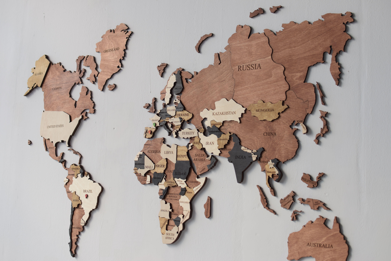 Wooden World Map Push Pin Travel Map Wood Large Wall Art Etsy Wood World Map World Map Wall Art Map Wall Art