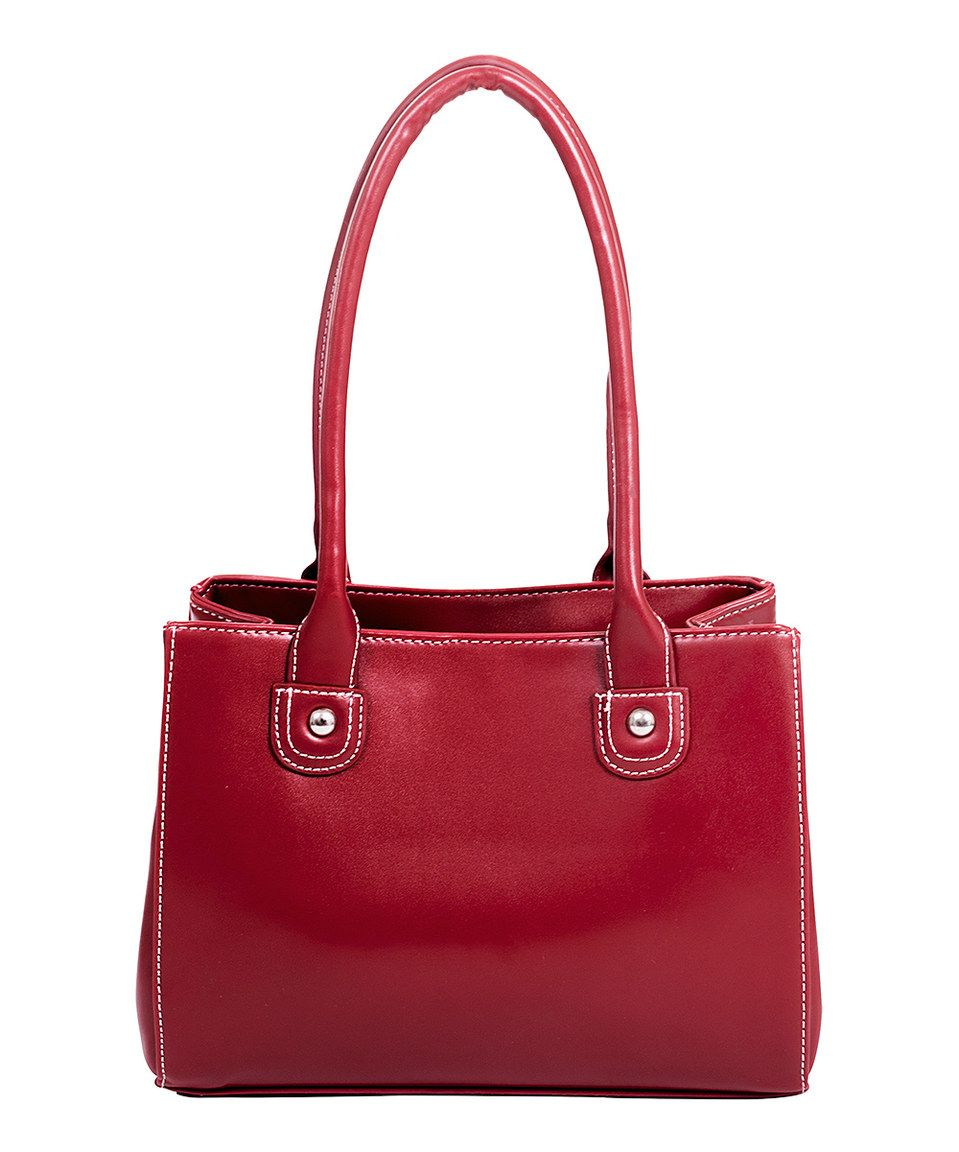 Another great find on #zulily! Red Isabella Tote by Parinda #zulilyfinds