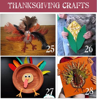 Cute & Easy Thanksgiving kids crafts