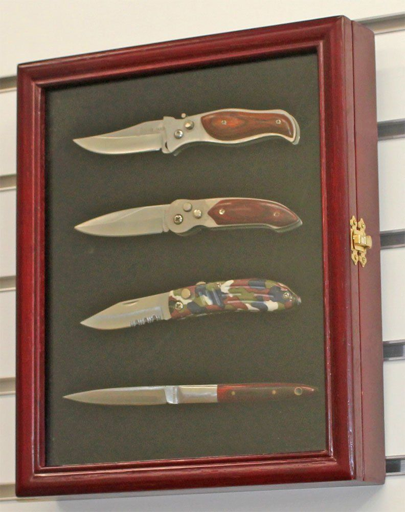 Pocket Knife Display Case Shadow Box With Glass Door Cherry Finish Kc02 Ch This Is An Amazon Aff Knife Display Case Shadow Box Display Case Display Case