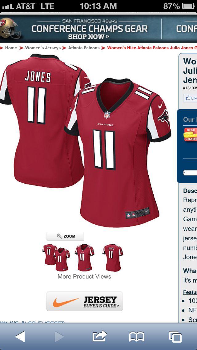 Julio Jones Jersey Size M Julio Jones Atlanta Falcons Nike Atlanta Falcons Women