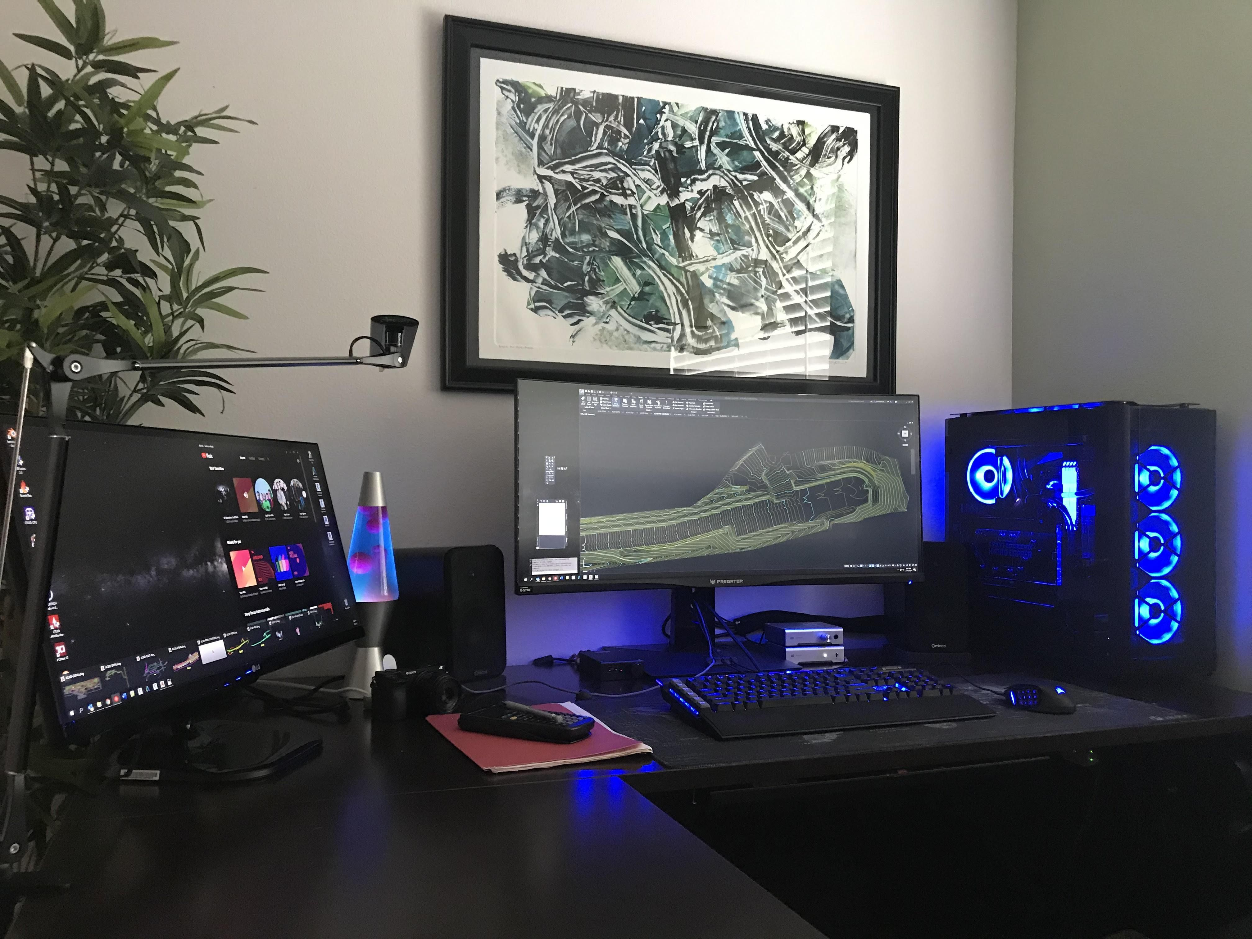 My Newly Completed Work Battle Station Up And Running In 2020