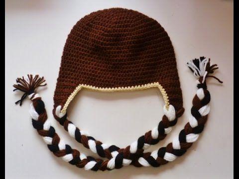 Mütze mit Ohrenklappen - Beanie - häkeln - crochet - Tiermütze ...