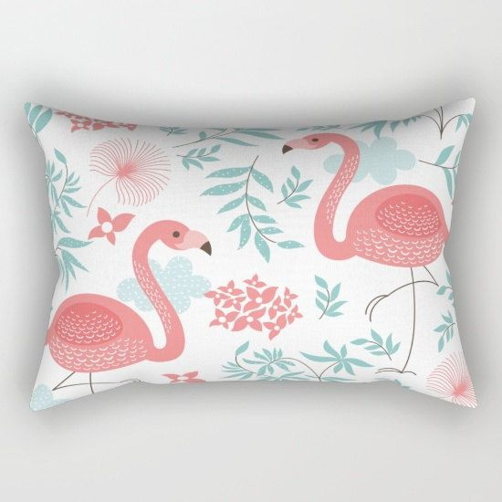 Blue Pillow Covers Pillows Pink Flamingos Inserts S Bedroom Nursery Decorative Throw Pastel Aqua