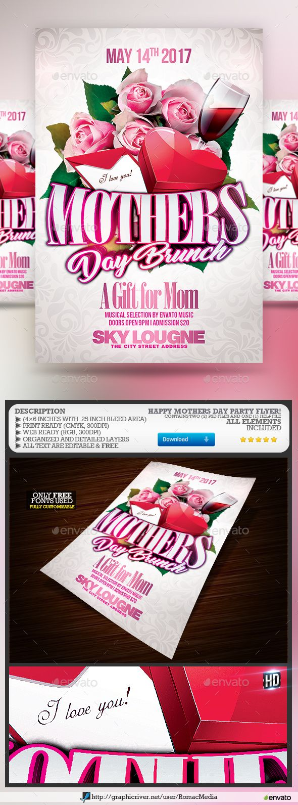 Happy MotherS Day Party Flyer  Party Flyer Flyer Template And