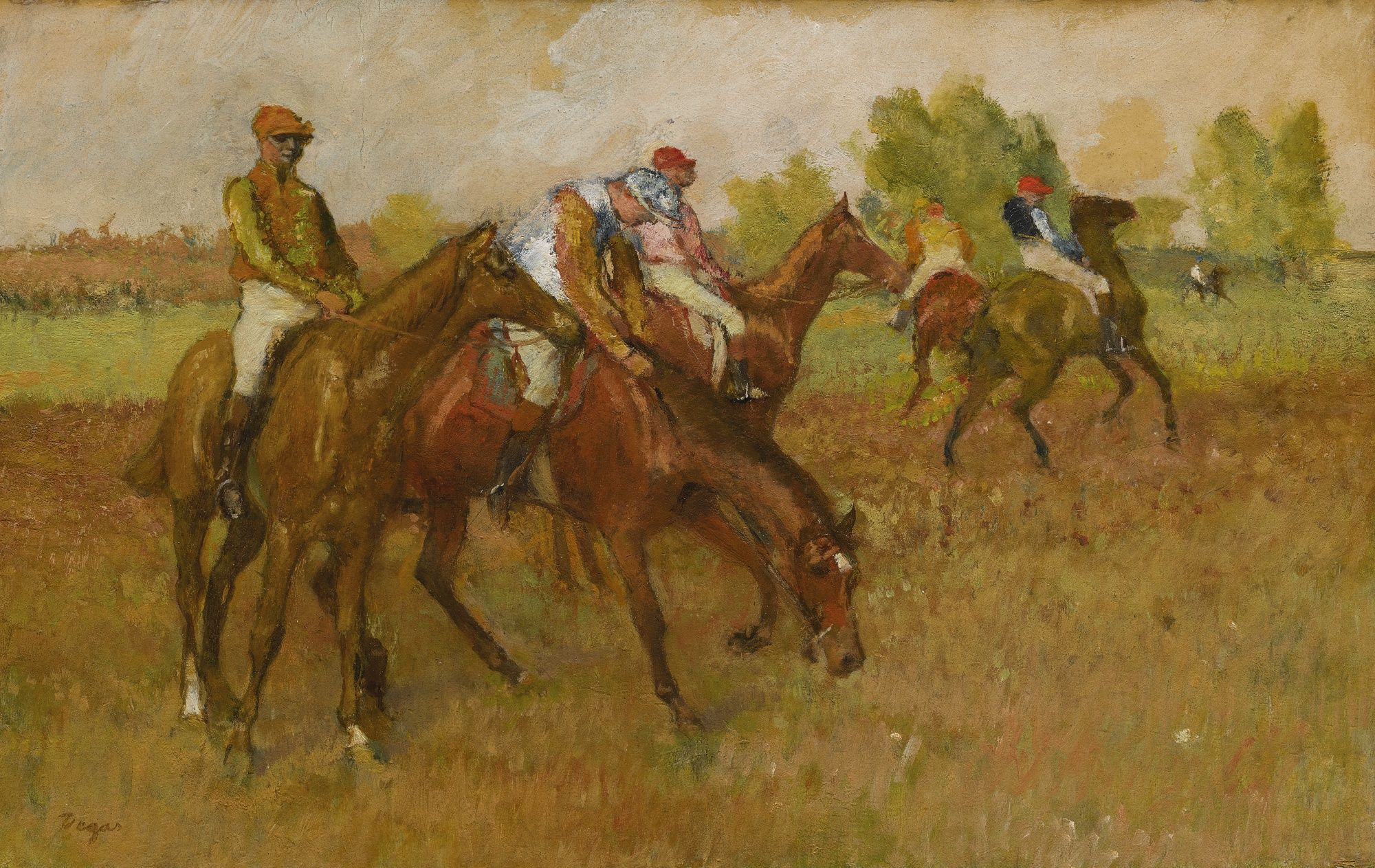 Degas Edgar Avant La Course Equestrian Sotheby S N09740lot6kjj8en Degas Paintings Edgar Degas Art Edgar Degas