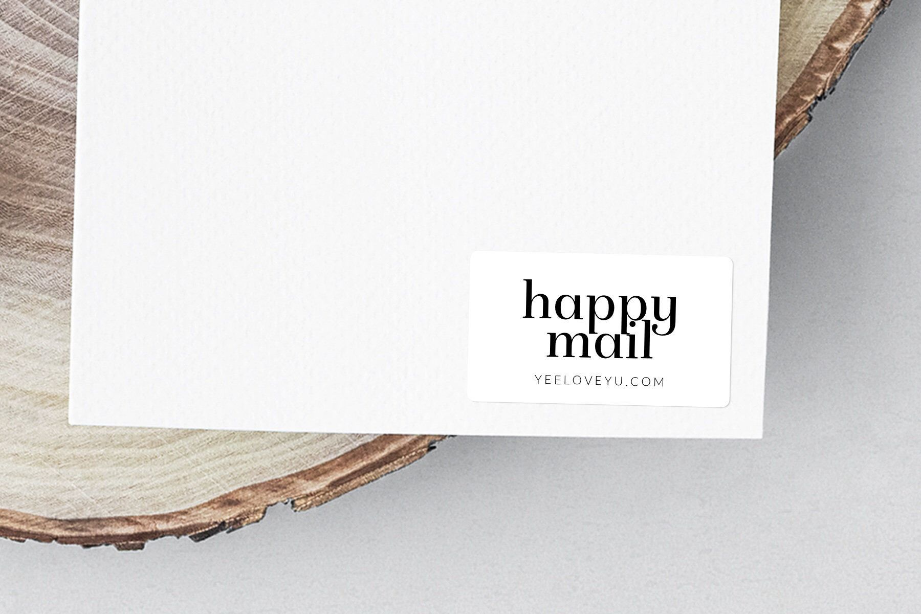 Personalised happy mail stickers custom happy post labels business label stickers shop packaging