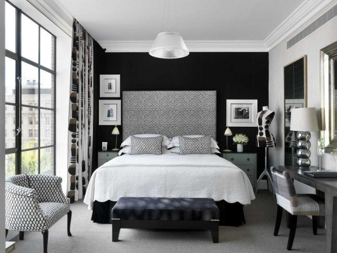 Colors For The Small Bedroom Black And White Eternity For The Small Bedroom Dream Bedrooms White Wall Bedroom Black And Silver Bedroom Grey Room Decor