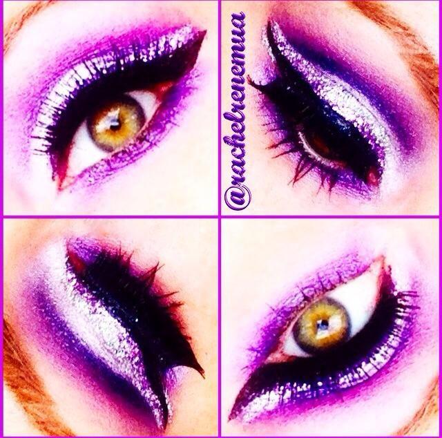 Maquiagem feita pela makeup artist americana @rachelrenemua usando o Jumbo Eye Pencil Lavender e Mechanical Pencil nas cores Black e Purple
