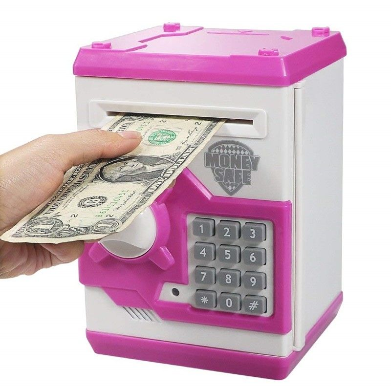 Electronic Piggy Bank ATM Password Money Box Cash Coins Saving Box ATM Bank Safe