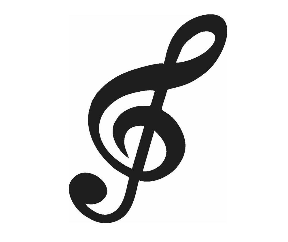 Adesivo Clave De Sol 18x8cm Decore Sua Parede Geladeira Por Claves Amp Notas Loucospormus Nota Musical Desenho Tatuagem Notas Musicais Notas Musicais