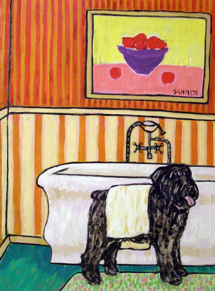 BOUVIER DES FLANDRES Painting 8 x 10 Art Print by Artist DJ Rogers