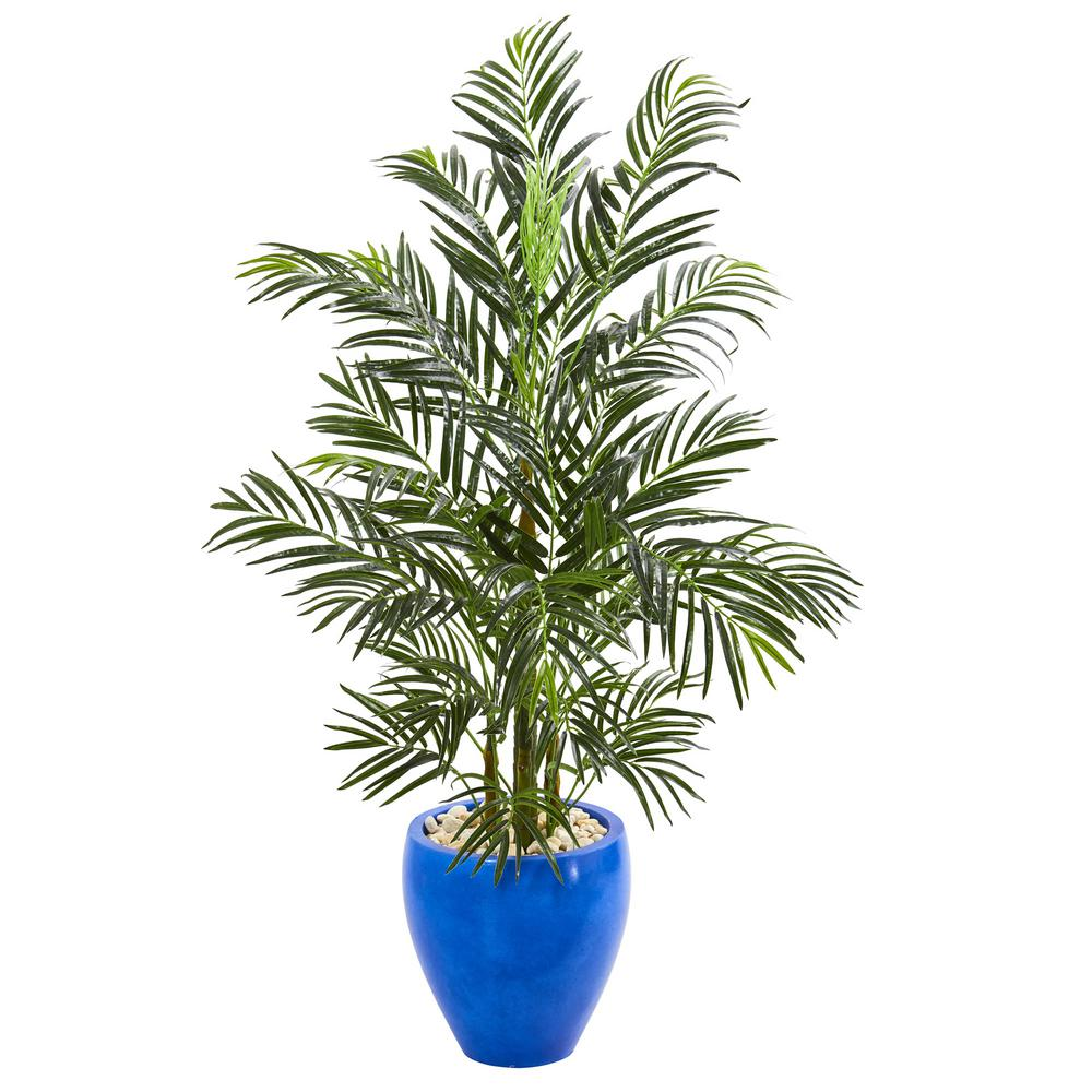 Nearly natural indooroutdoor ft areca palm artificial tree in