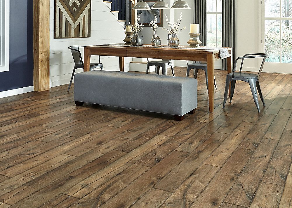 10mm Antique Farmhouse Hickory Laminate 2 49 Sq Ft Greenguard Gold Low Voc Farmhouse Flooring Hickory Flooring Hickory Wood Floors