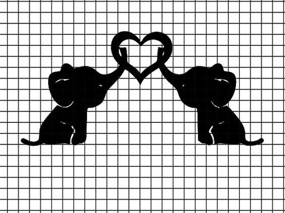 Download 2 Baby elephants holding heart SVG/DXF/download for Cricut ...