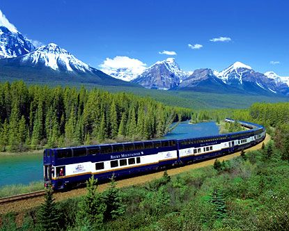 Take a train from coast to coast in Canada.  (A beautiful way to see my lovely country in one trip)