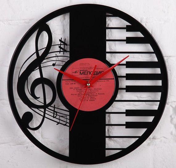 Horloge murale sur disque de lp vinyle 12