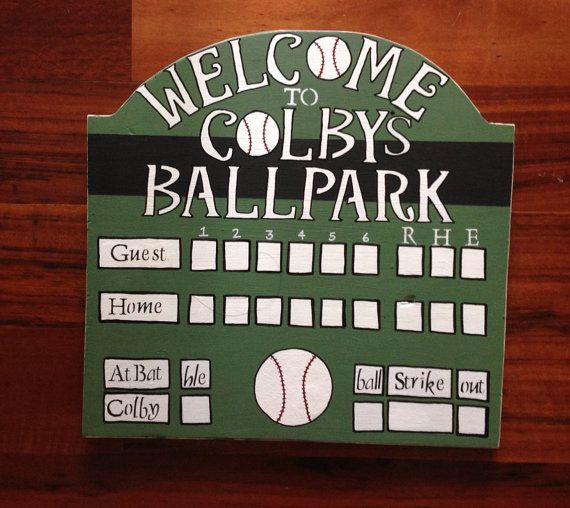 Mini Scoreboard With Free Personalization For Childs Roombirthdaysweddings On Etsy 4000