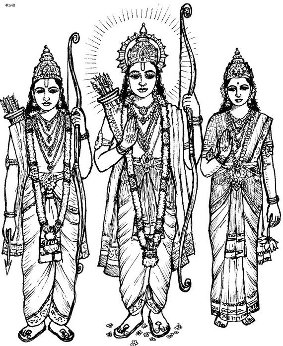 dussehra pics for coloring book pages | These Navratri and Dussehra festival coloring pages are for the victory of good over evil ...