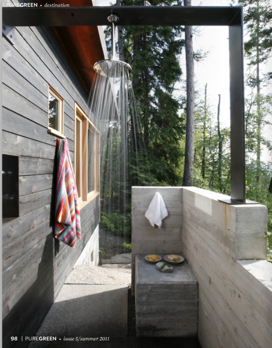 Outdoor shower i would use rain water and solar power for - Which uses more water bath or shower ...