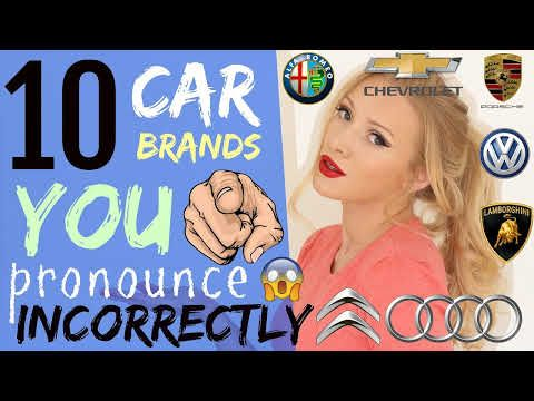 How To Pronounce Audi >> Youtube Languages Car Brands How To Pronounce English