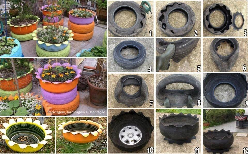 como fazer hortas em pneus - Pesquisa Google Jardim ...