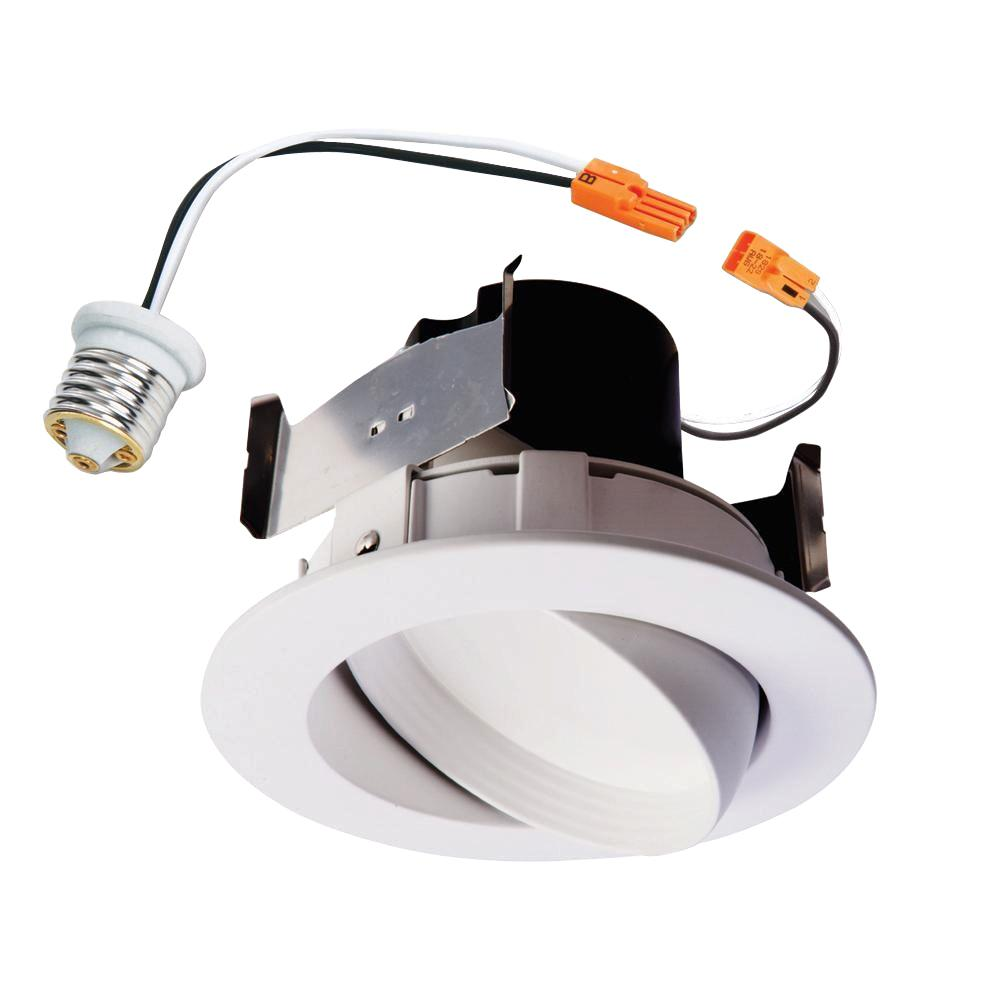 Halo Ra 4 In White Integrated Led Recessed Ceiling Light Fixture