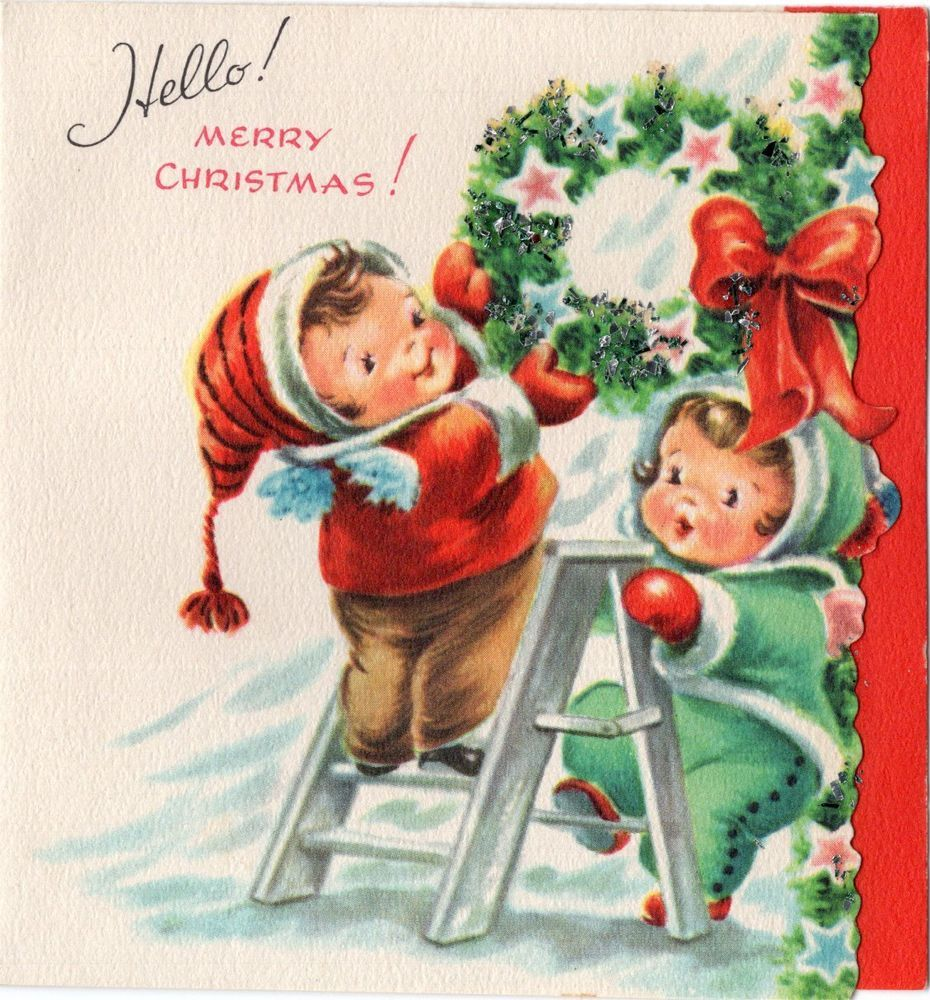 Vintage Christmas Card | Vintage Christmas cards/Post Cards ...