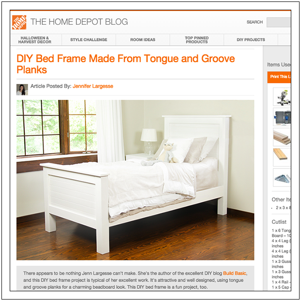 Build A Diy Beadboard Twin Bed By Build Basic The Home Depot