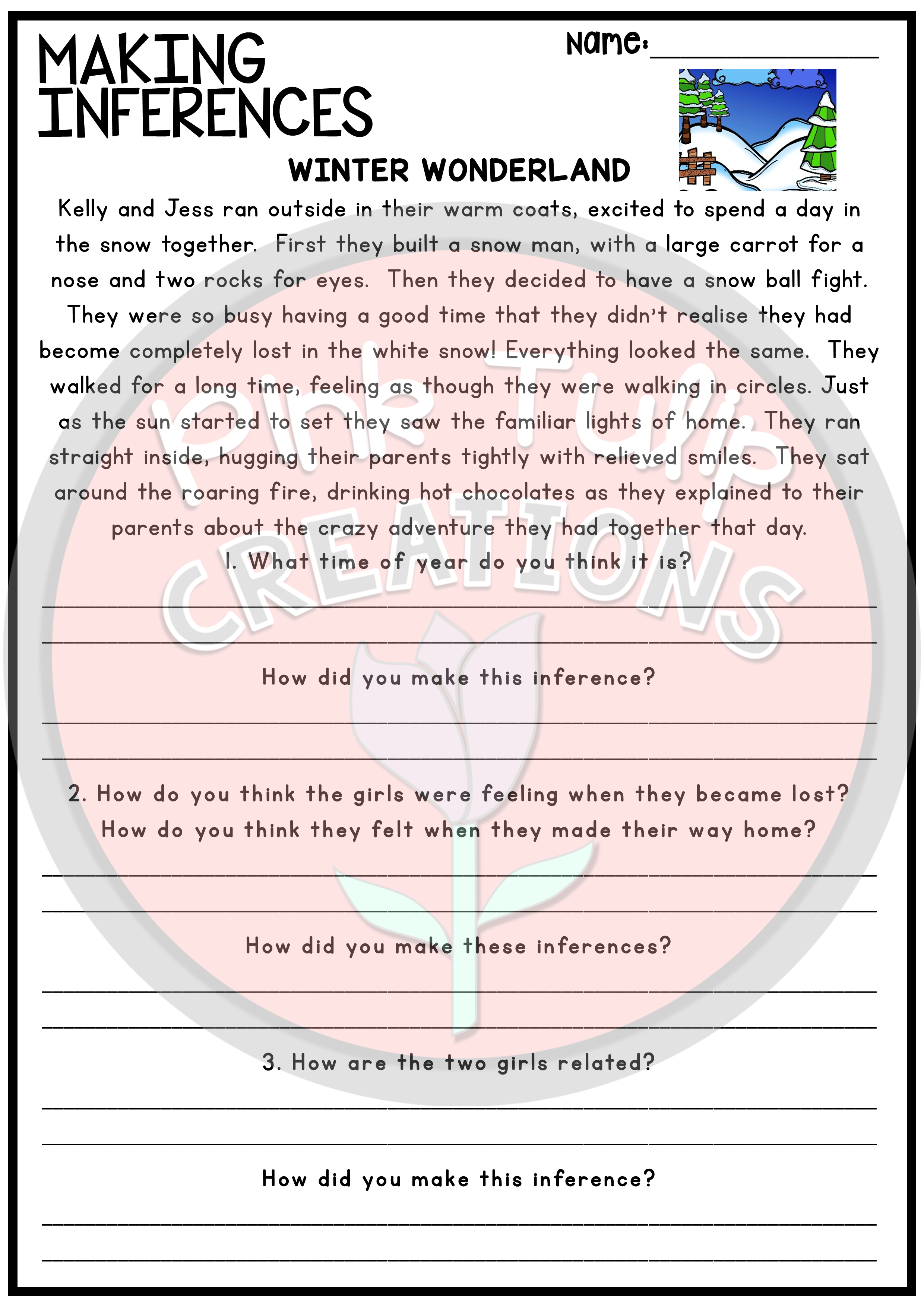 medium resolution of Making Inferences and Drawing Conclusions - Reading Worksheet Pack   Making  inferences