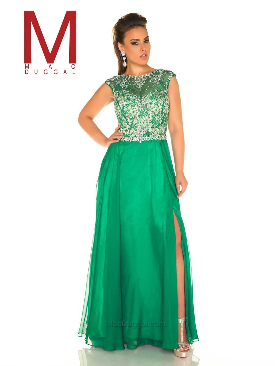 Mac Duggal Fabulouss 11102f Plus Size Colorful Lace Gown Macs