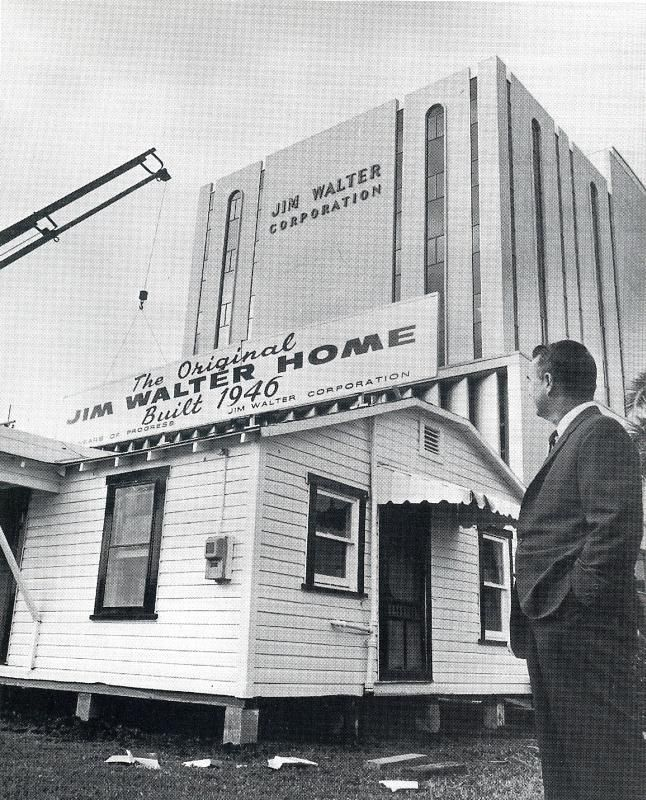 Photo Is From Building A Business The Jim Walter Story And Is Reprinted Without A Smidge Of Permis House Blueprints Craftsman Bungalow House Plans House Plans