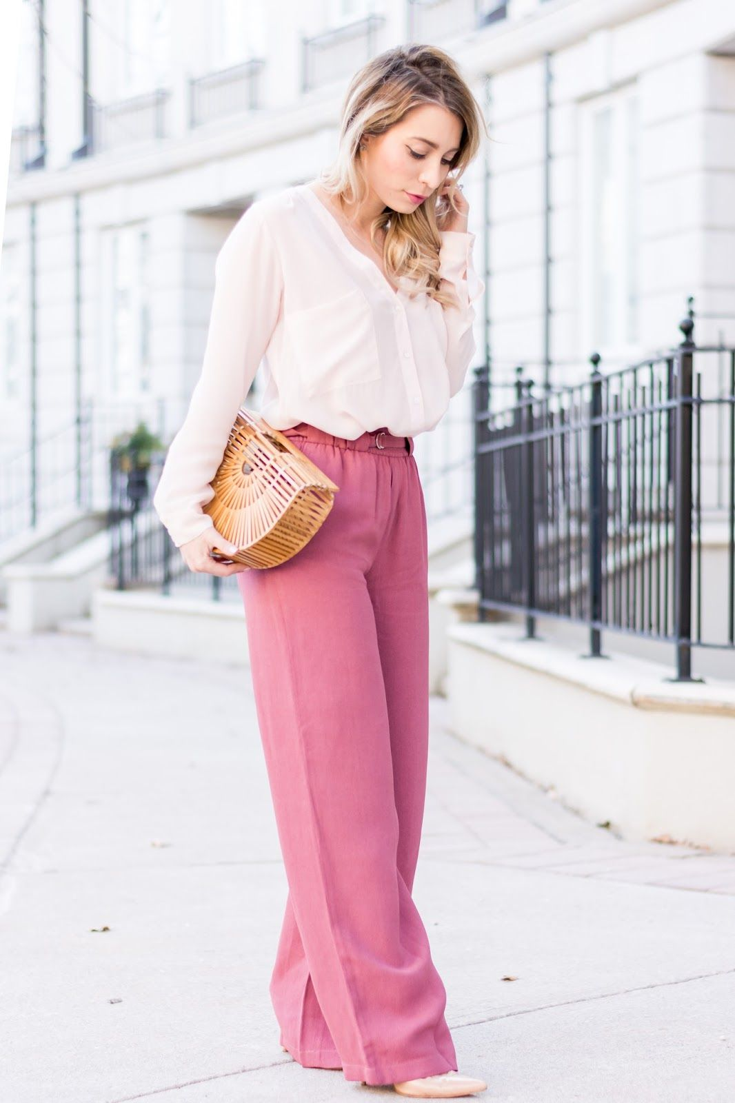 0c0db25a37 OOTD - When Bloggers Influence Bloggers Pink Pants Outfit