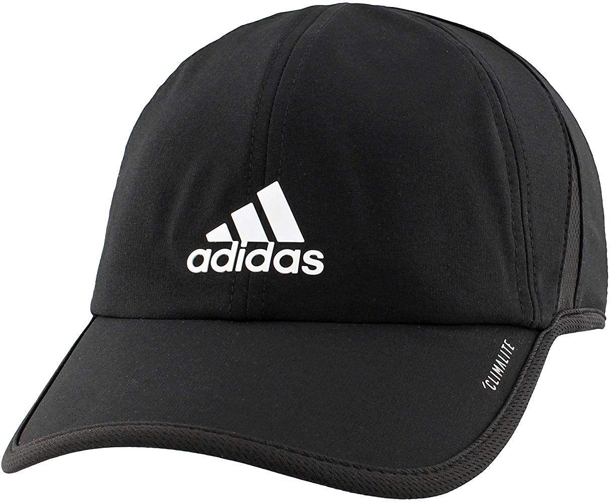 Amazon Com Adidas Men S Superlite Relaxed Adjustable Performance Cap Black White One Size Clothing In 2020 Adidas Men Adidas Cap Running Cap