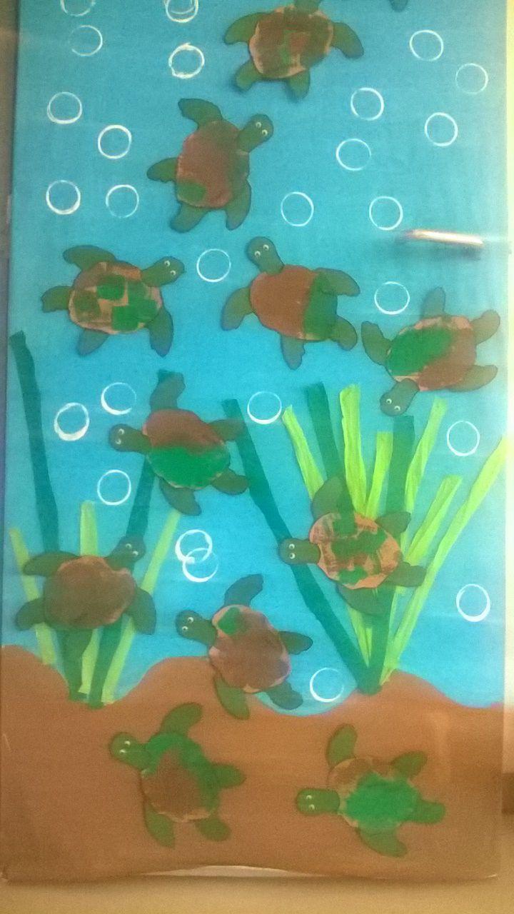 Porta com tartarugas