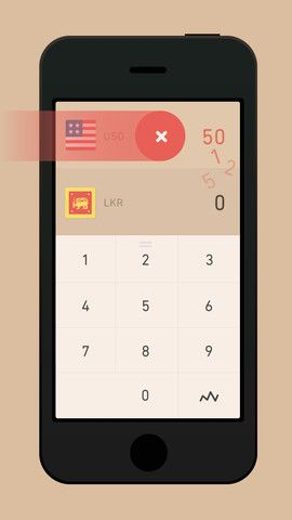 Currency Simple Converter Iphone Gesture