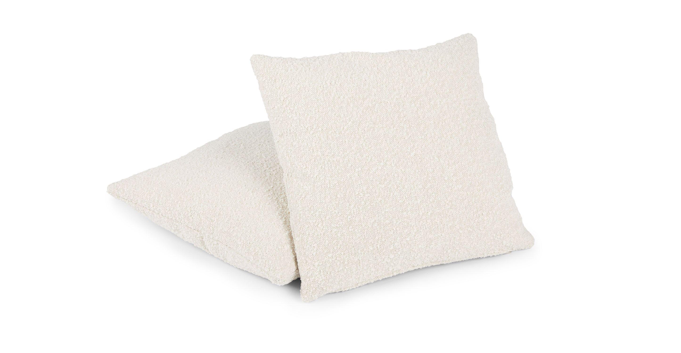 Gabriola Ivory Boucle Pillow Set In 2020 Pillow Set Modern