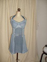 denim halter dress 004 | Flickr - Photo Sharing!