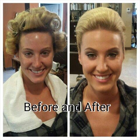 Hair and makeup by Theresa Higgins