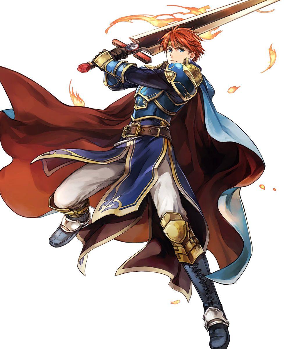 Blazing Knight Eliwood, Battle Art from Fire Emblem Heroes