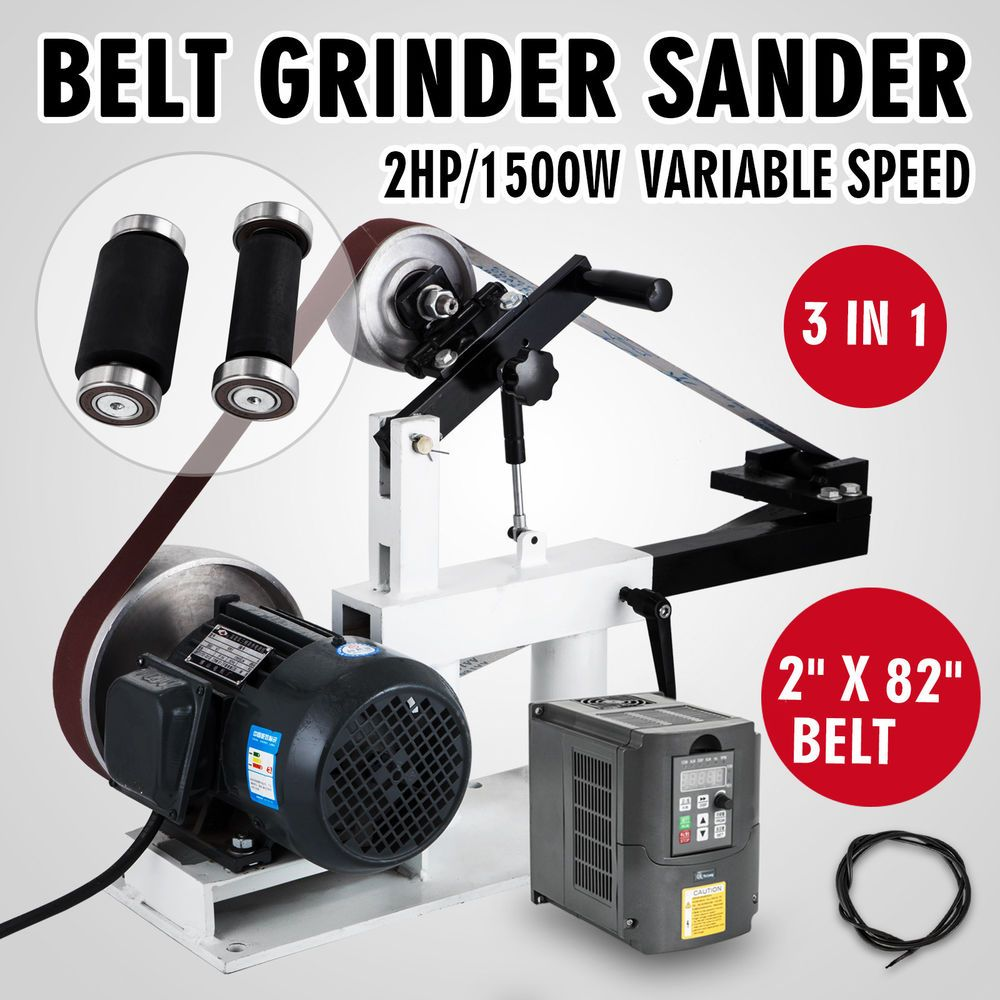 Belt Grinder 2 U0026quot  X 82 U0026quot  Complete Chassis With 2hp Motor